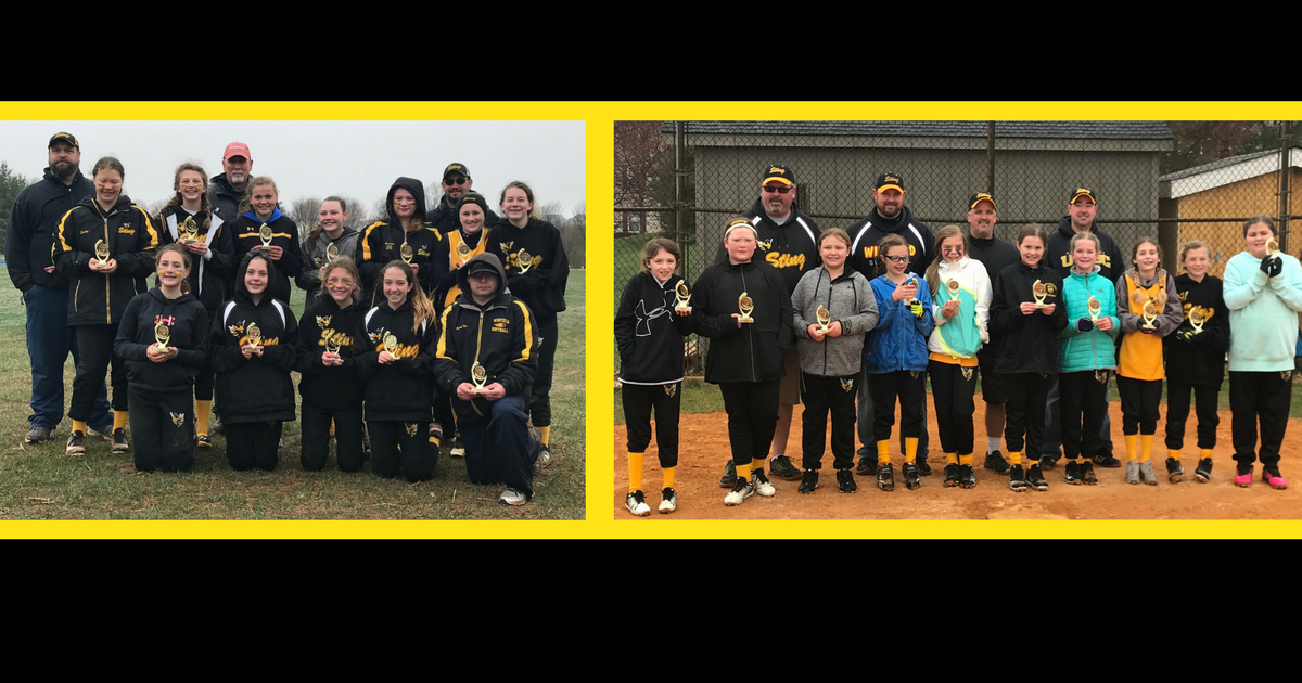 Congratulations to the Winfield Sting Softball